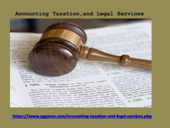 Aggasso's team can assist you for accounting, taxation, and legal services