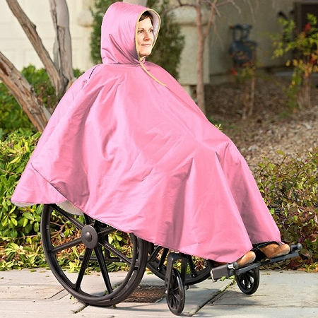 Buy best wheelchair poncho (protect yourself and your wheelchair!)