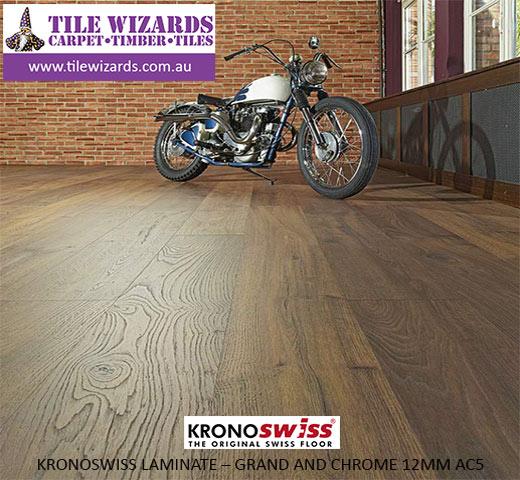 Kronoswiss laminate flooring - grand chrome