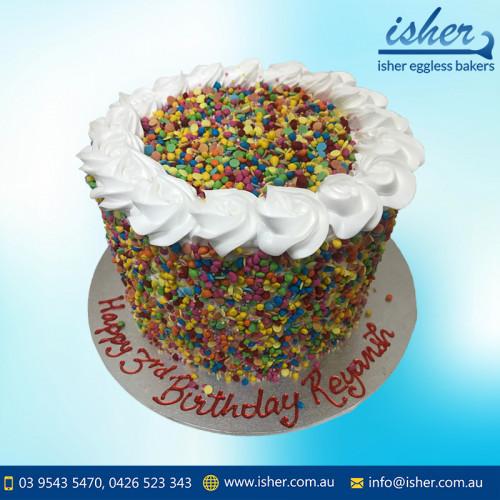 Rainbow theme cake
