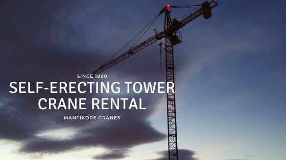 Self-erecting tower crane rental