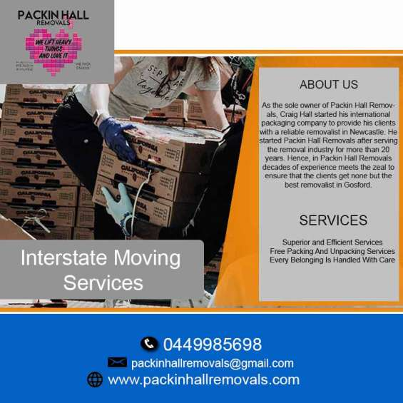 Want local and interstate moving services?