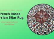 French Roses Persian Bijar Rug
