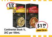 Continental Stock - Grocery Item, IGA Ravenswood