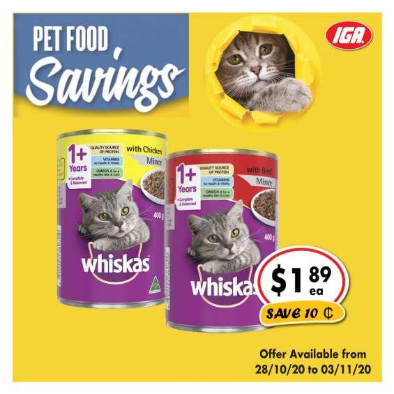 Whiskas cat food - grocery item, iga ravenswood