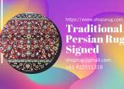Traditional Persian Rug Signed