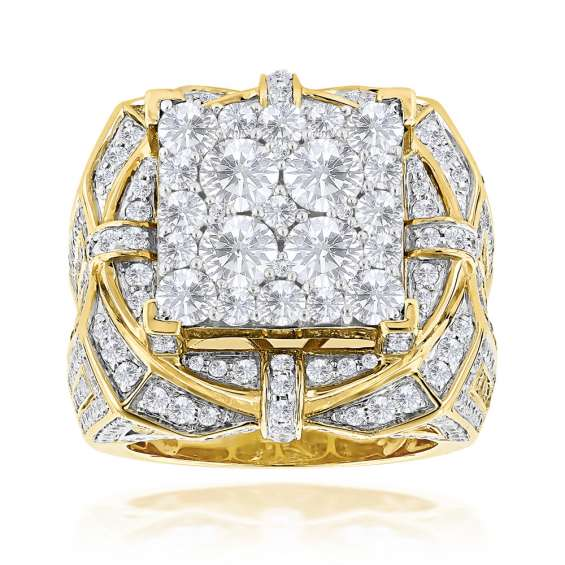 Iced out diamond rings