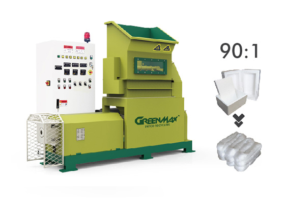 Greenmax polystyrene melting machine for your eps recycling business