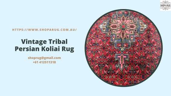 Vintage tribal persian koliai rug