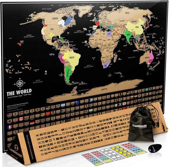 World scratch off map australia