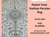Pastel Tone Kashan Persian Rug 300x200cm on Sale   Shoparug