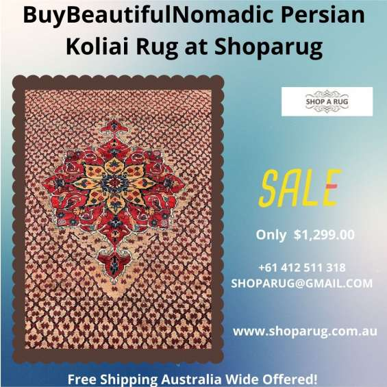 Shop for certified hand knotted tribal koliai rug 300x157cm discounted room size at shopa