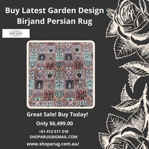 Buy latest garden design birjand persian rug at shoparug