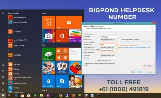 Where can i find my email password of bigpond?