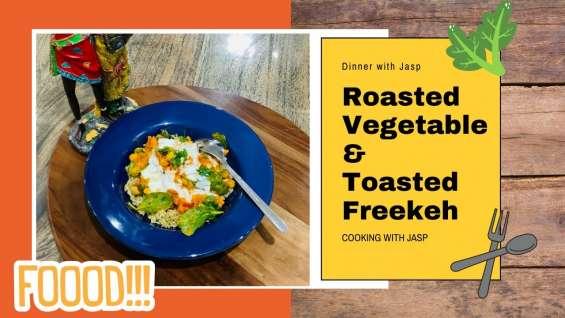 Roasted vegetable & toasted freekeh recipe