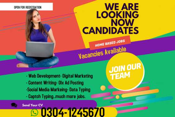 Online jobs available for males and females.