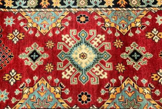 Buy awesome certified hand knotted caucasian kazak afghan runner from shoparug.