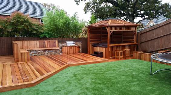 Deck building melbourne services at green kings landscaping