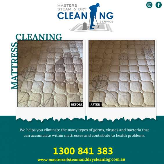 Mattress deep cleaning services at masters of steam and dry cleaning