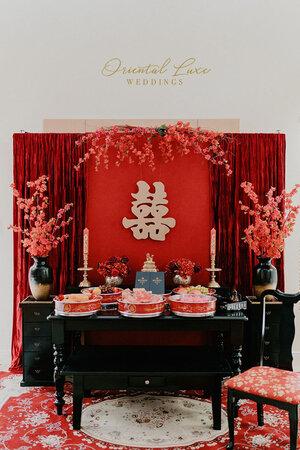 Chinese wedding tea ceremony decorations