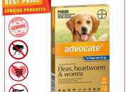 ADVOCATE- Flea, Heartworm & Worm Treatment for Over 25 Kg Dogs