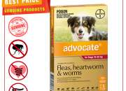 ADVOCATE- Flea, Heartworm & Worm Treatment for 10 to 25 Kg Dogs