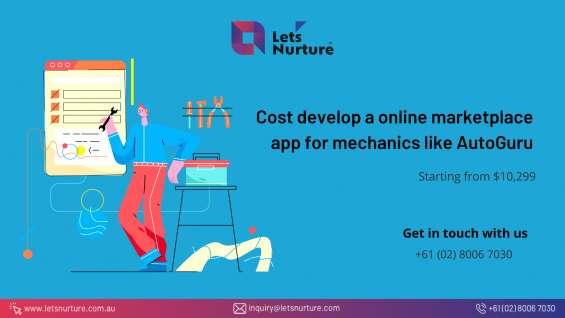 Want an online marketplace app for mechanics like autoguru with let's nurture?