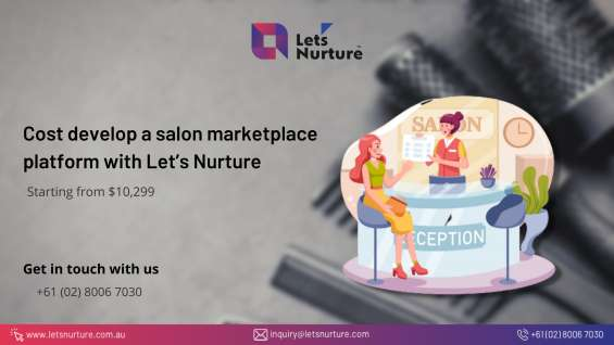 What will be the cost to develop a salon marketplace platform with let's nurture?
