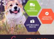 Budgetpetsupplies- eBay's best store, is having a Spring sale on any pet products.